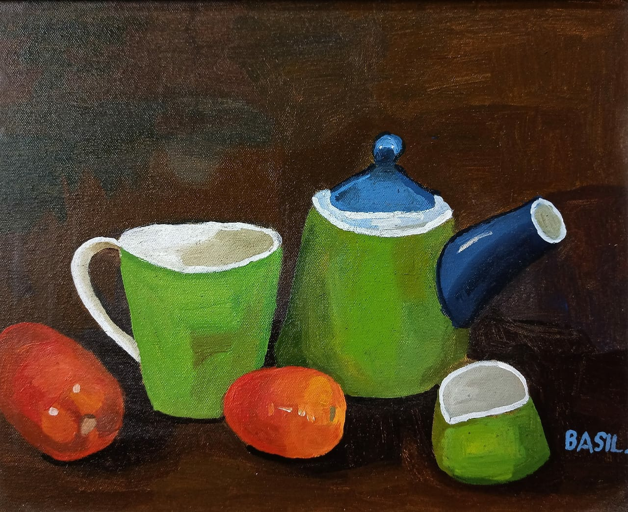 Kettle, Cups and Tomatoes