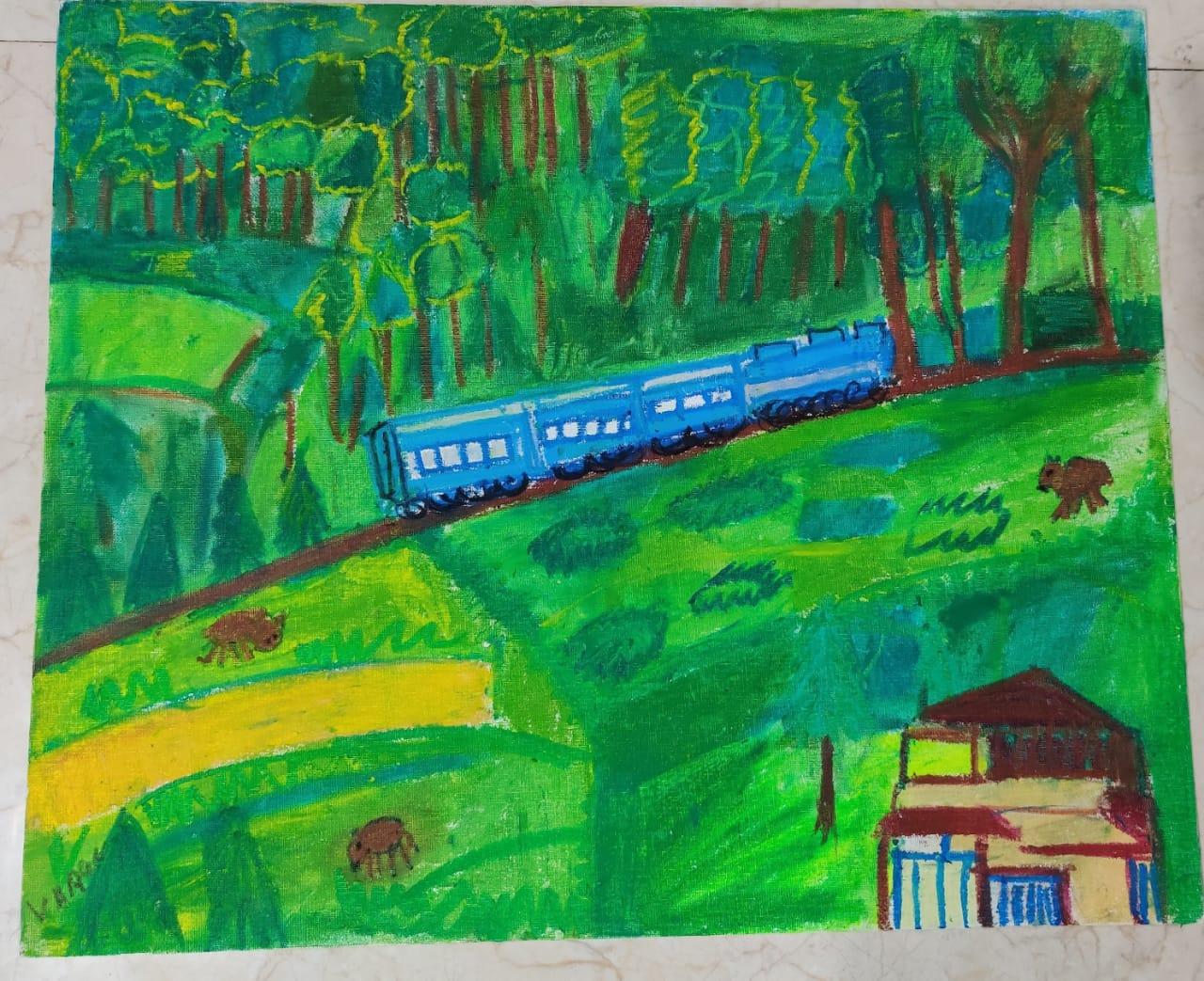 Ooty in heritage train Slider 1/1