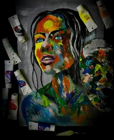 Abstract fantasy Woman Portrait Slider 1/3