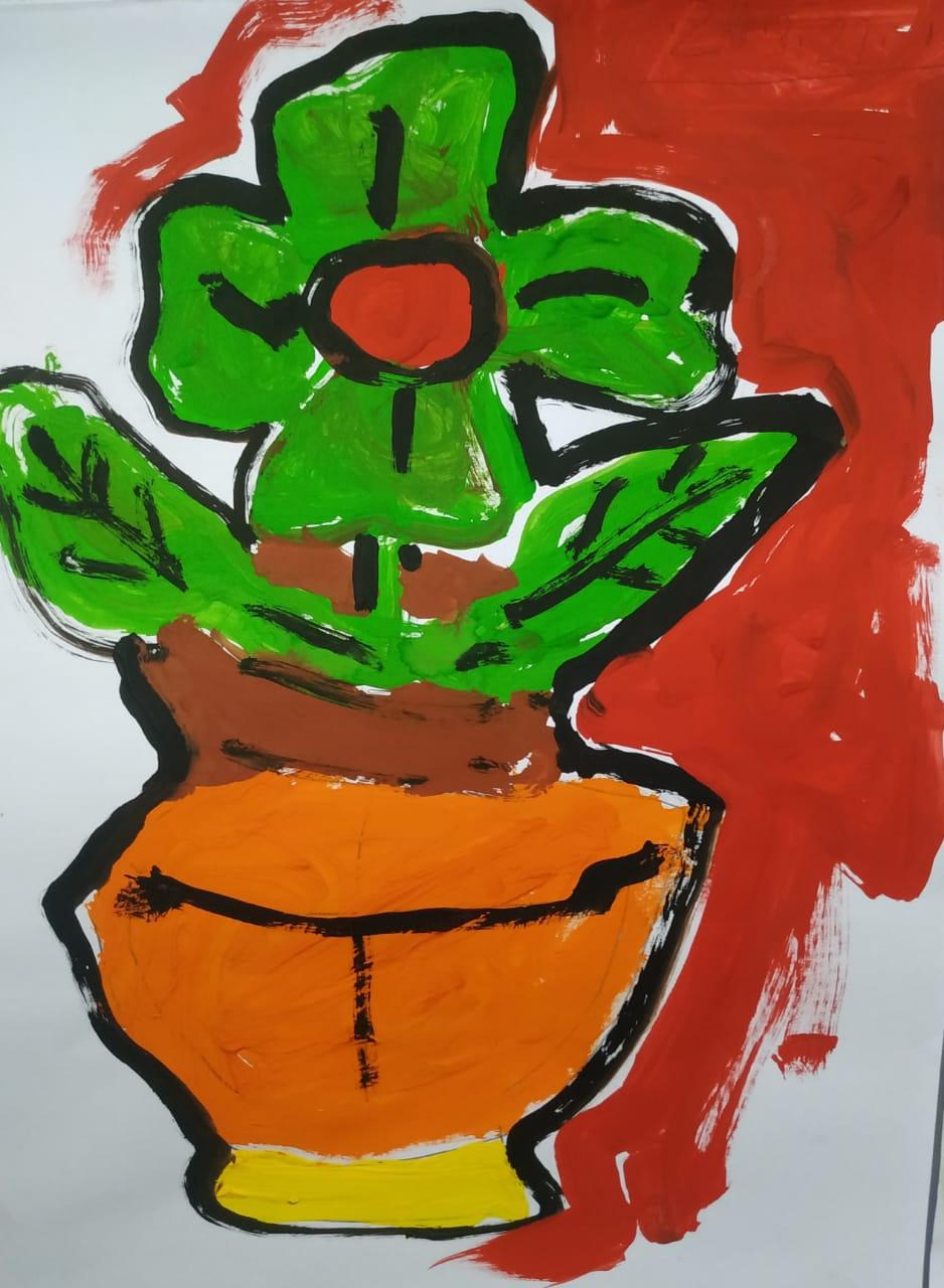 The green flower Slider 1/1