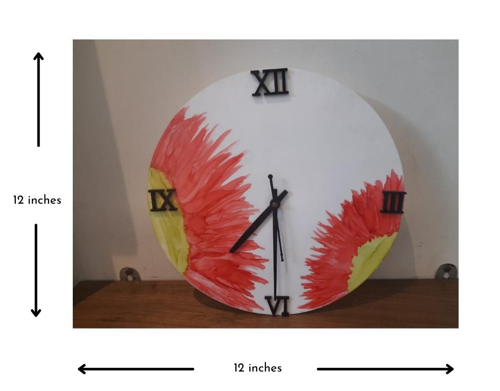Alcohol ink Clock Slider 2/3