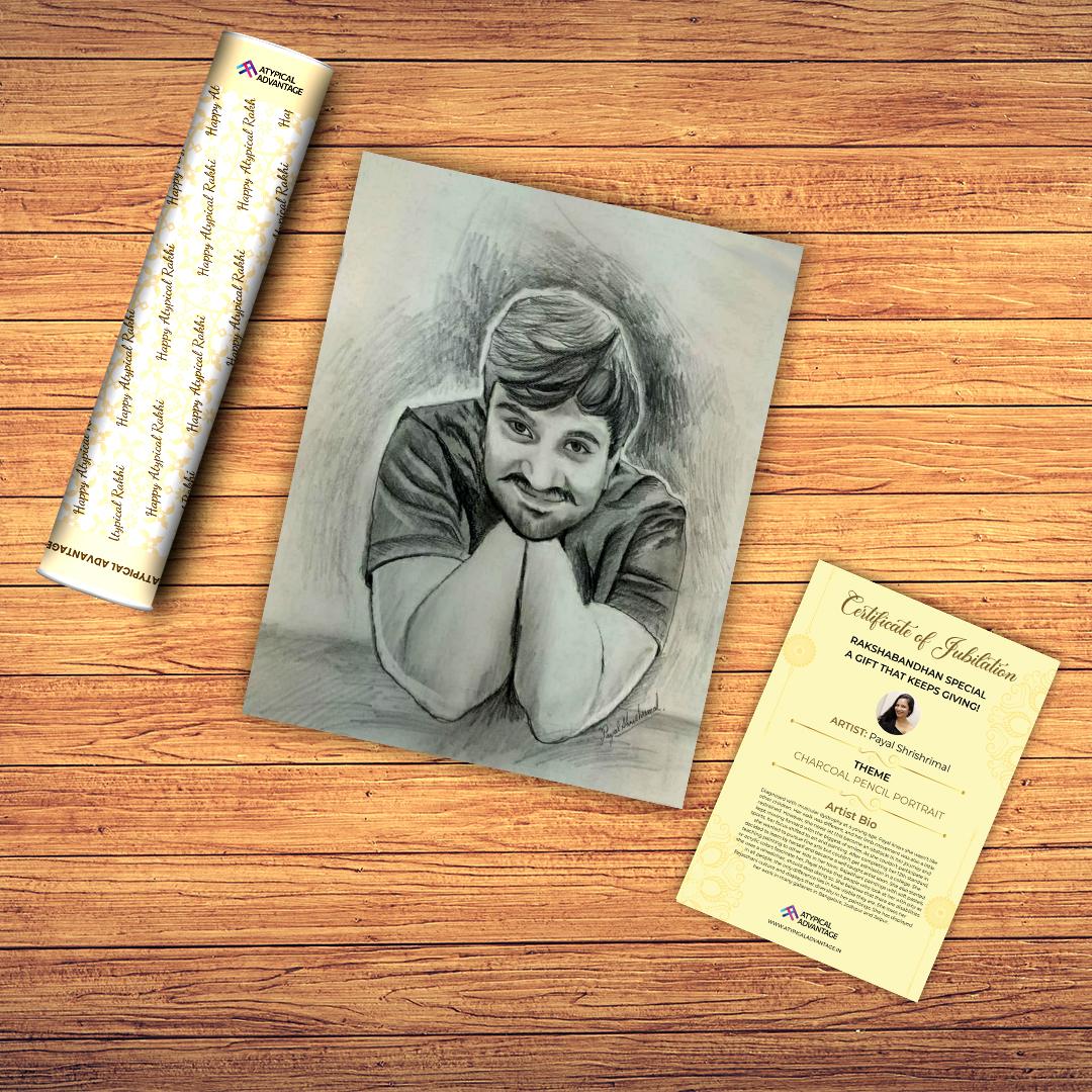 Charcoal Pencil Portrait Slider 4/5