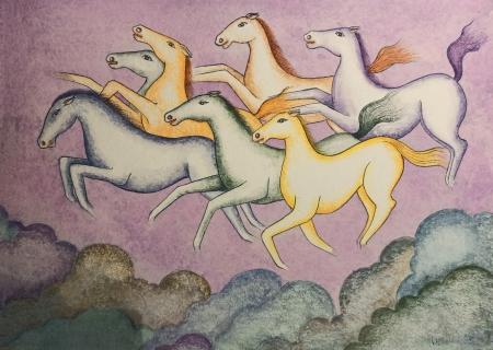 7 Horses -Seven galloping horses Slider 1/4