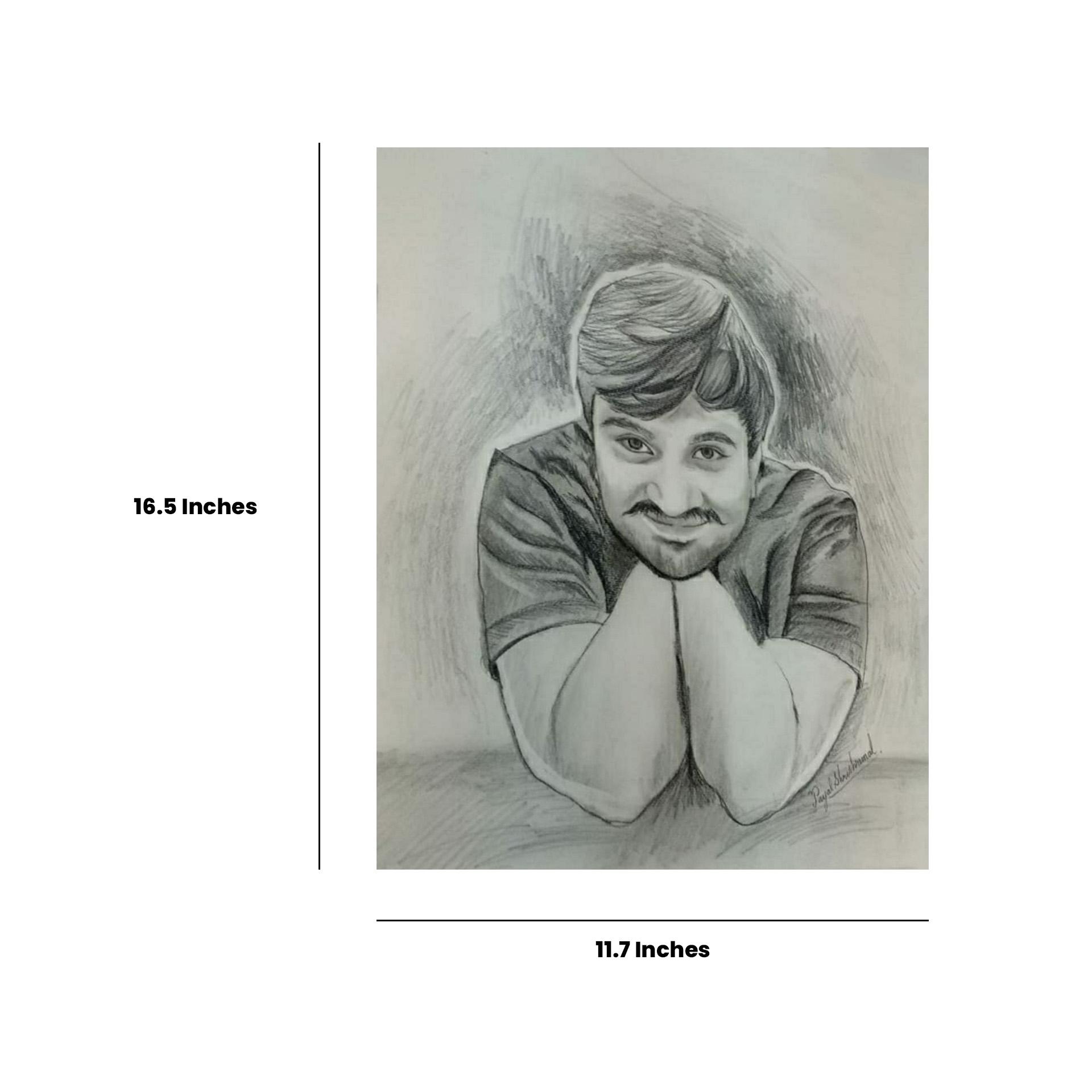 Charcoal Pencil Portrait Slider 2/5