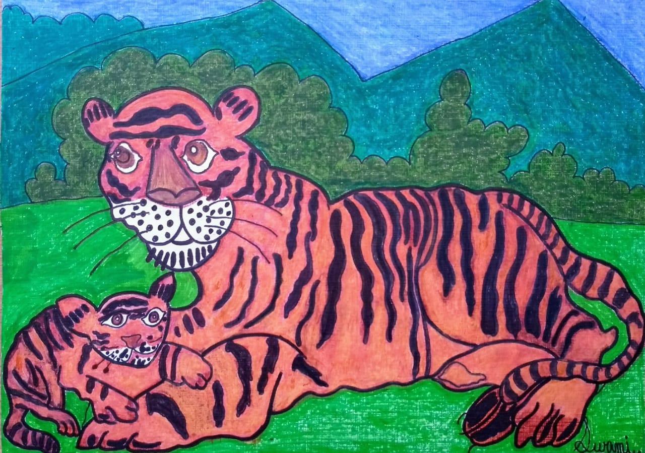 Tiger & Cub Slider 1/4