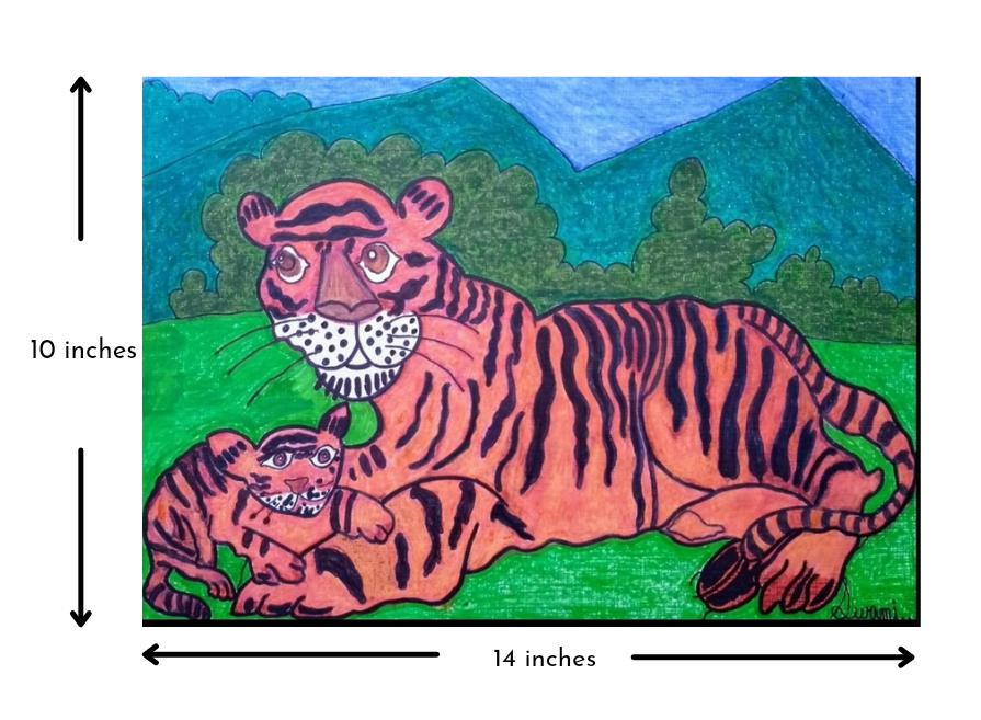 Tiger & Cub Slider 3/4