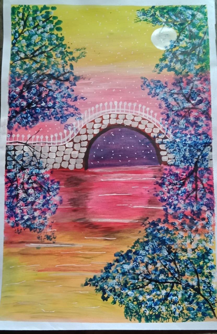 Moonlight & cherry blossoms Slider 1/3