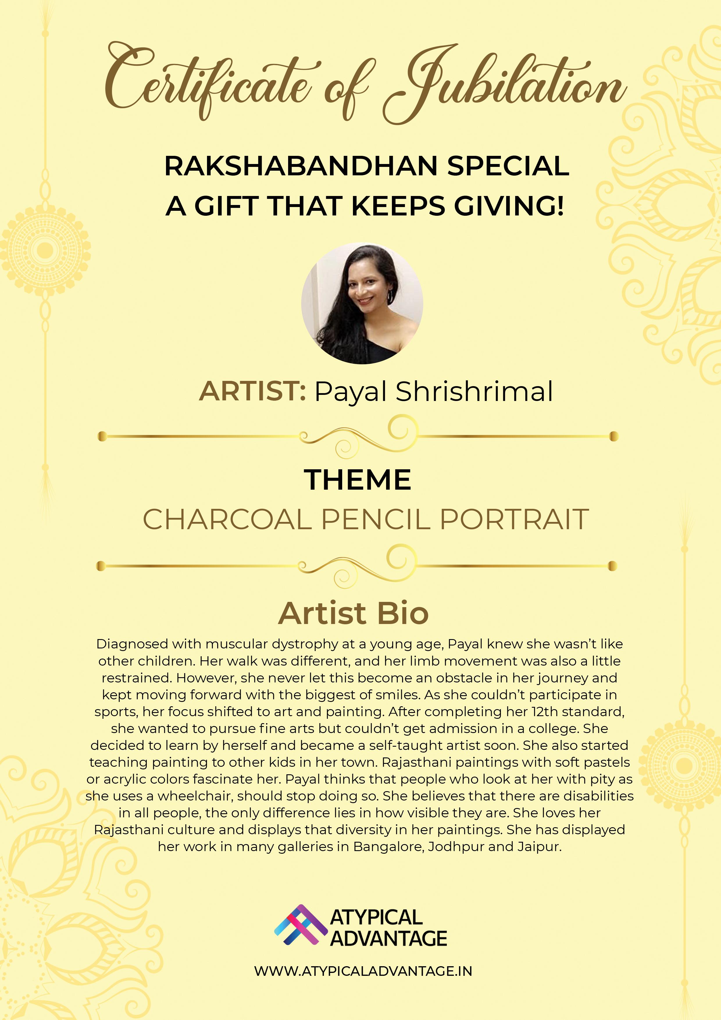 Charcoal Pencil Portrait Slider 3/5
