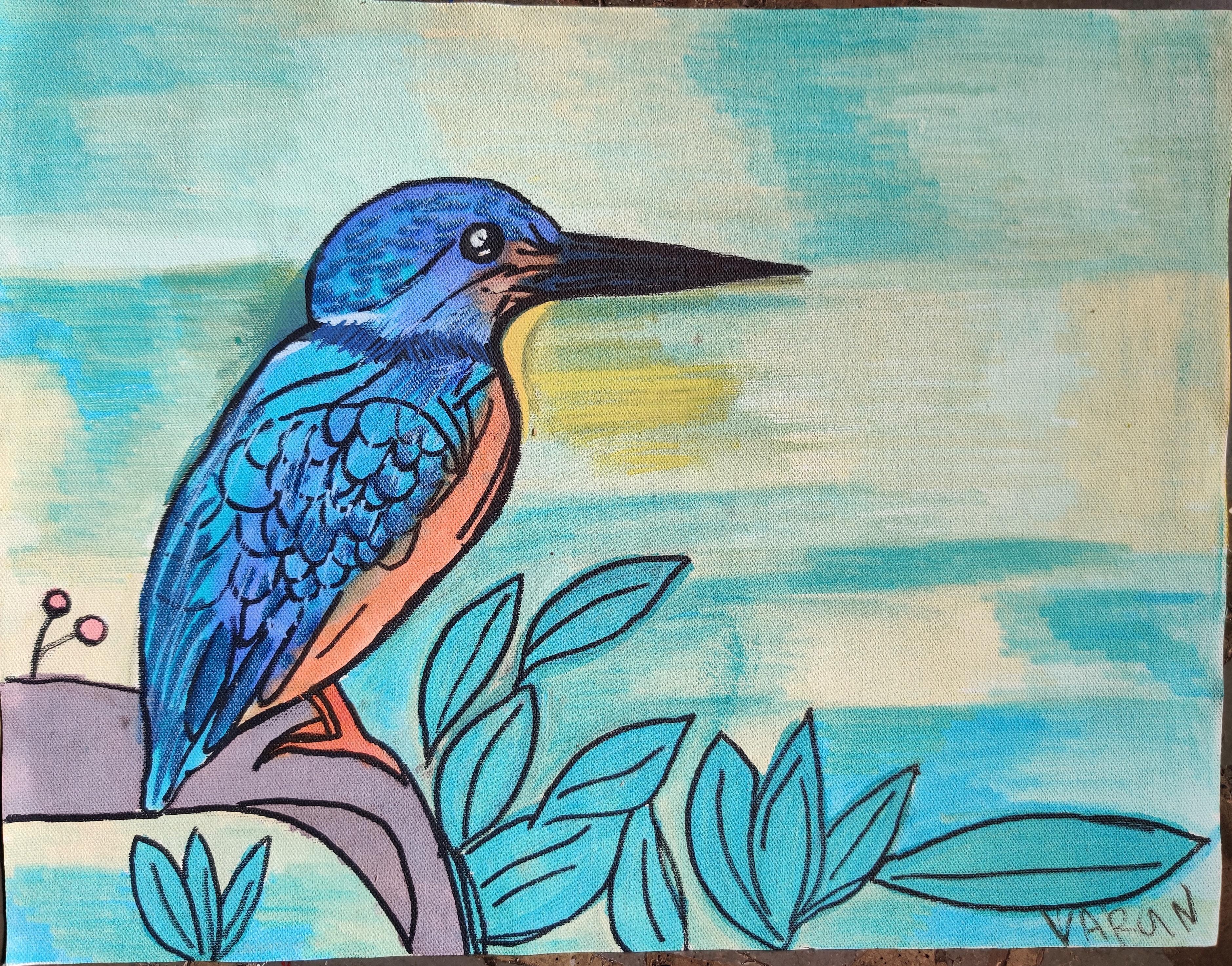 White throated Kingfisher Slider 1/1