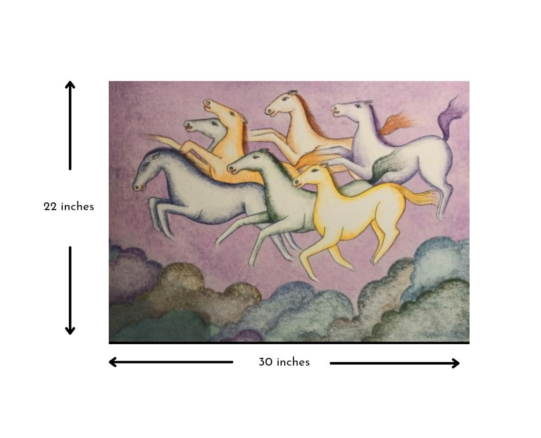 7 Horses -Seven galloping horses Slider 3/4