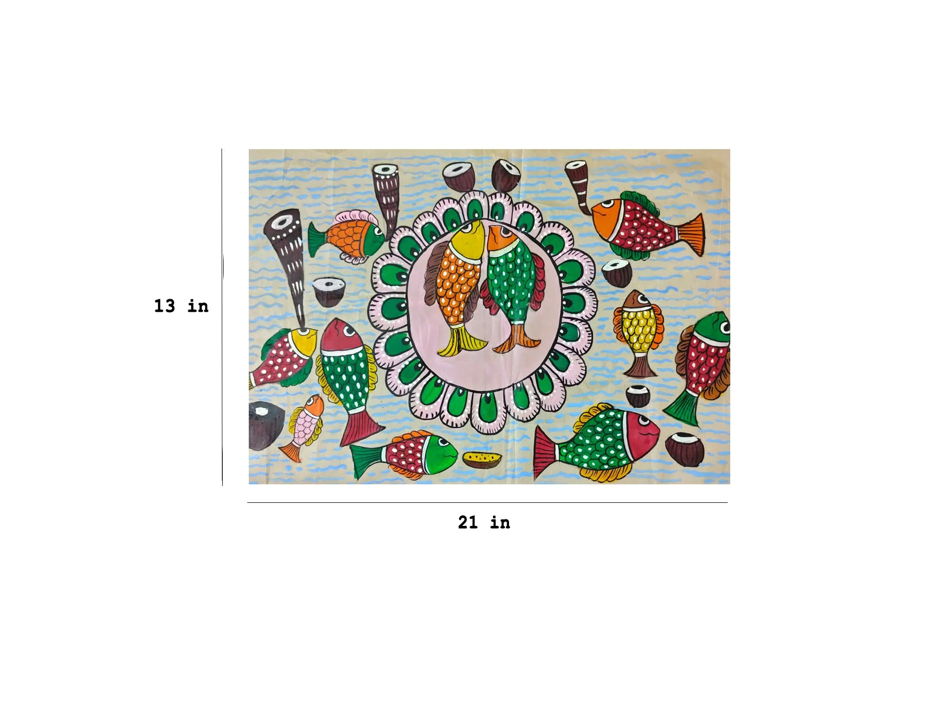 Tribal Art on cloth Slider 2/3
