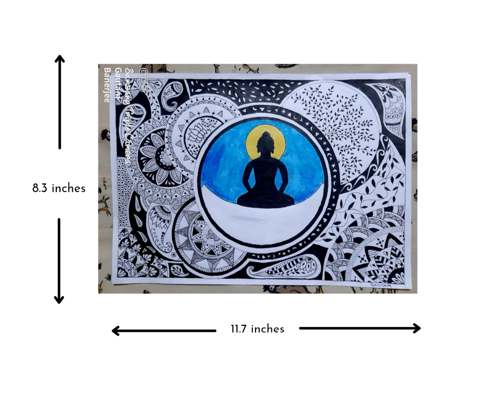 Buddha sittings on Moon Slider 2/2