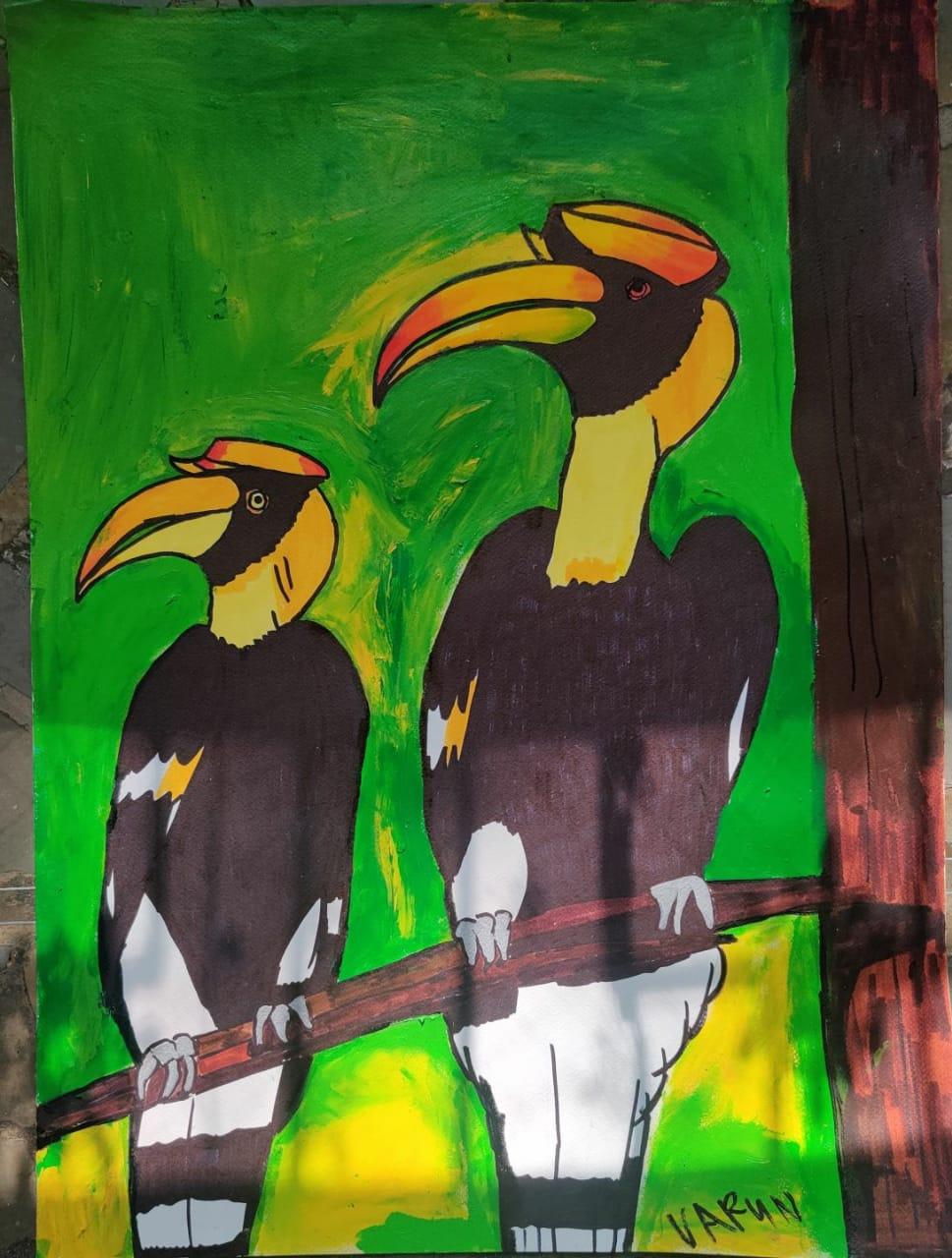 Hornbills basking in the sun Slider 1/1
