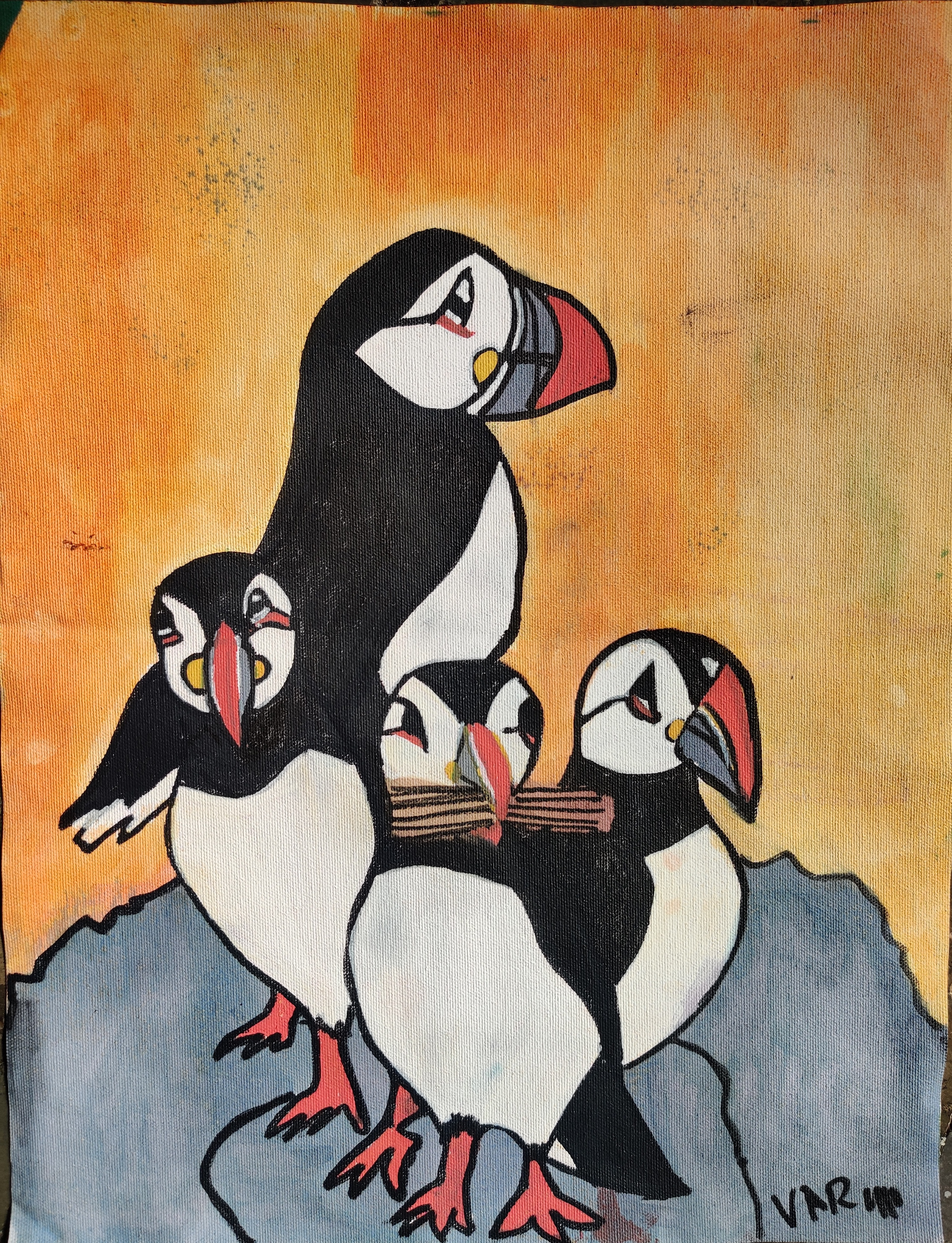 Family of Puffins Slider 1/1