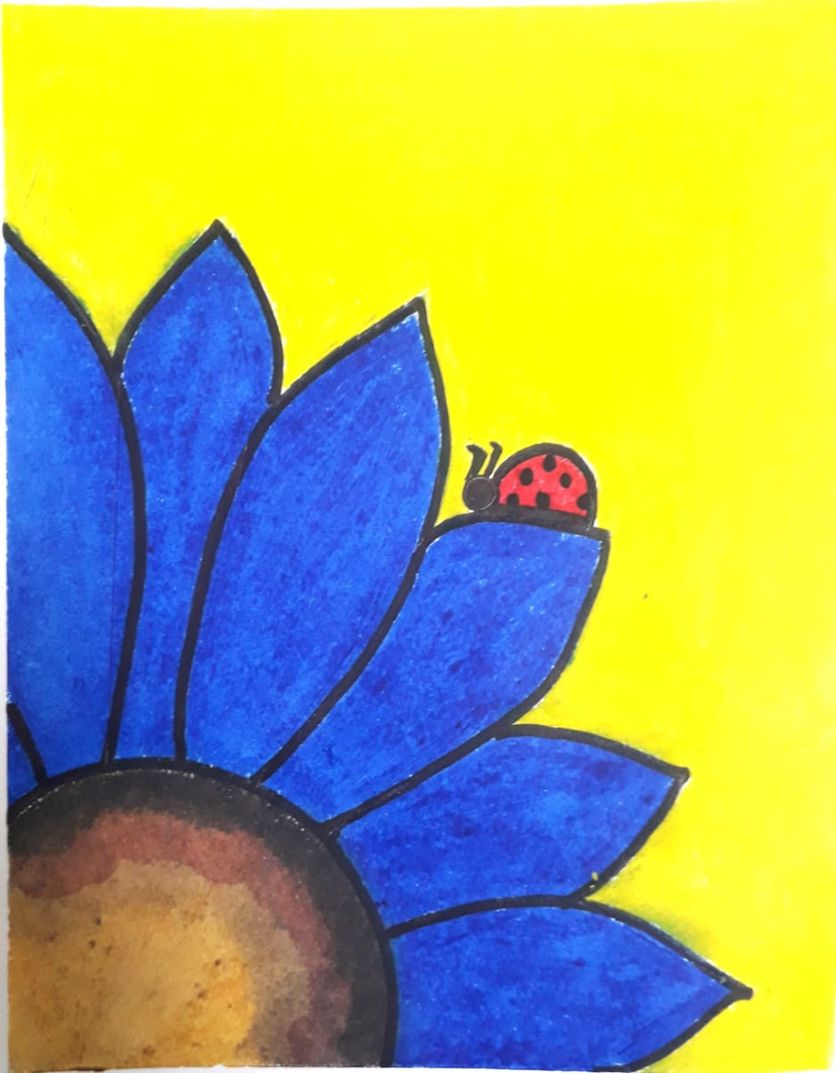 Blue Daisy Slider 1/3
