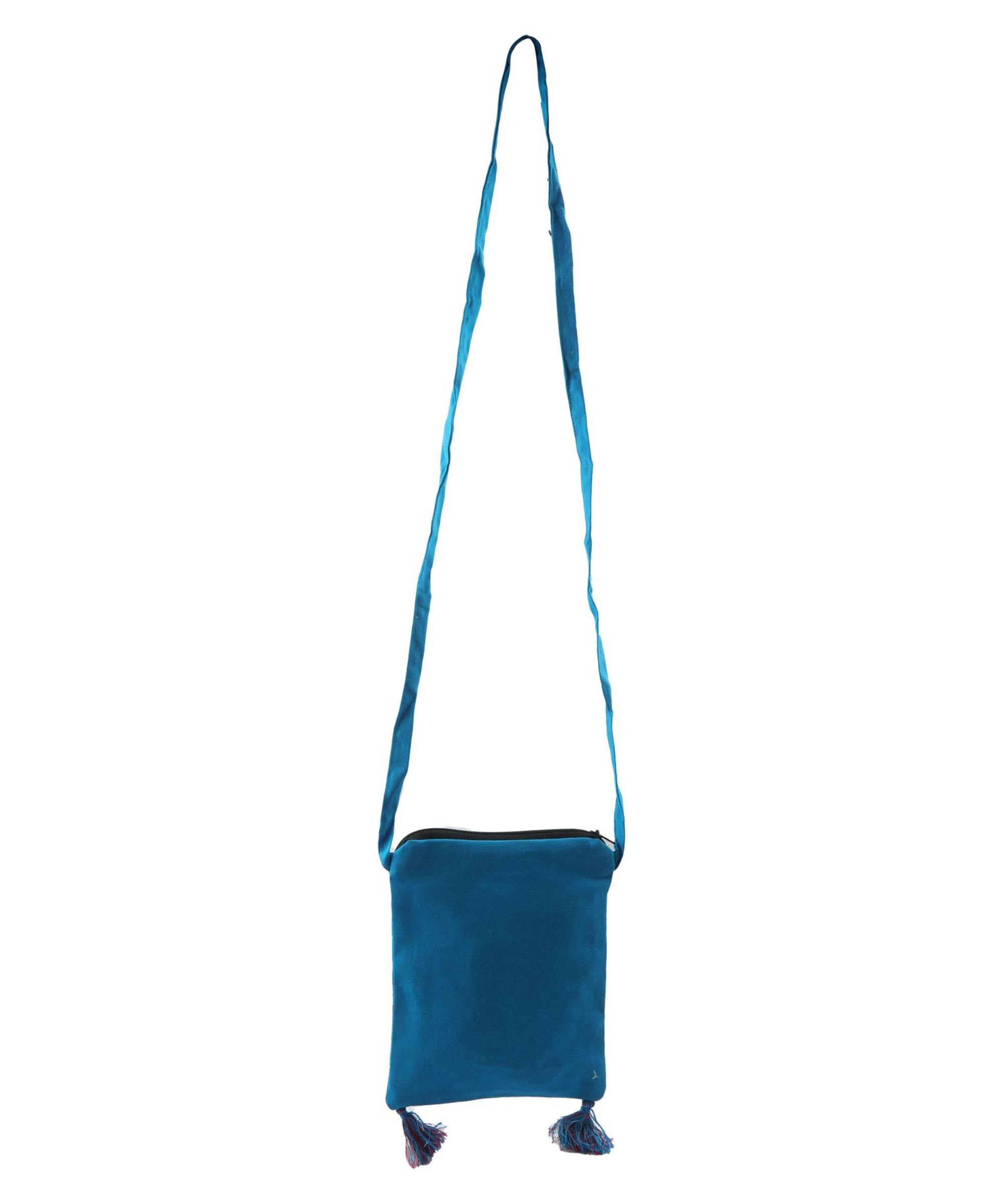 Women's Blue WIEA Sling Bag (Set of 2) Slider Thumbnail 4/5