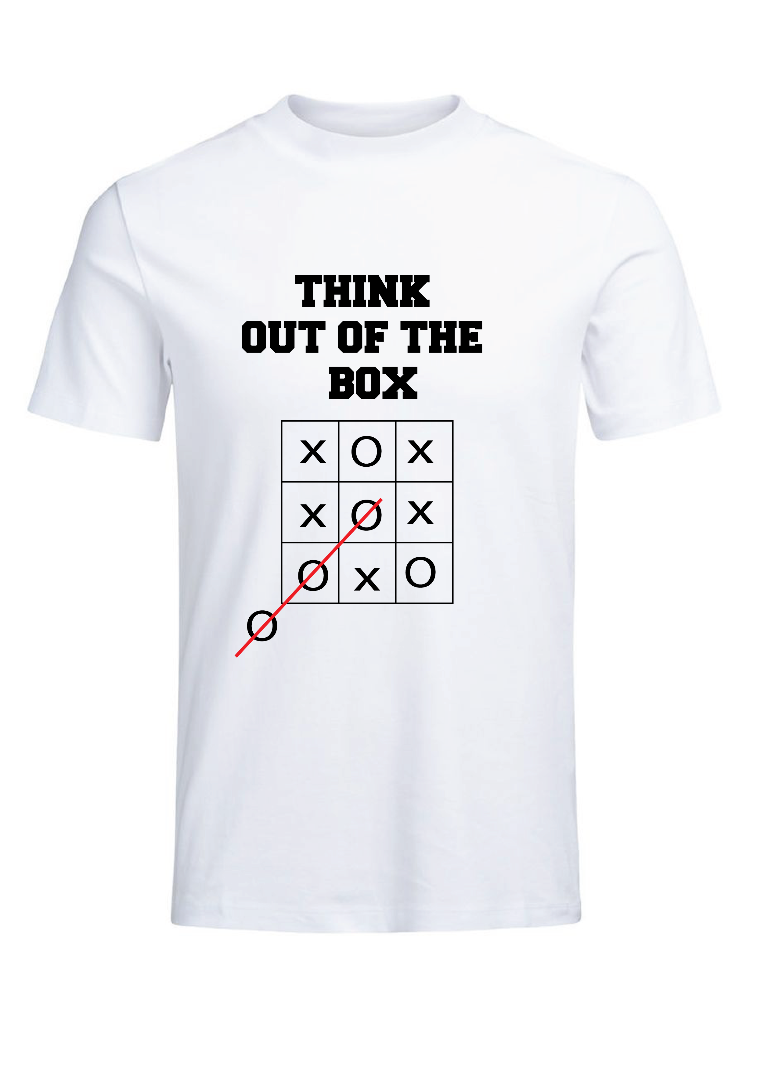 Think out of the box T-shirt for Men Slider Thumbnail 2/4