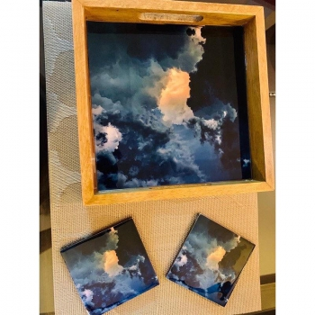 Divine Cloud Tray & Coasters