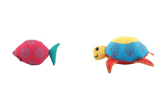 Patchwork Soft Toy - Fish & Tortoise (Combo) Slider 1/1