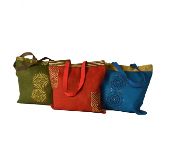 Jute Bag with Zari Borders