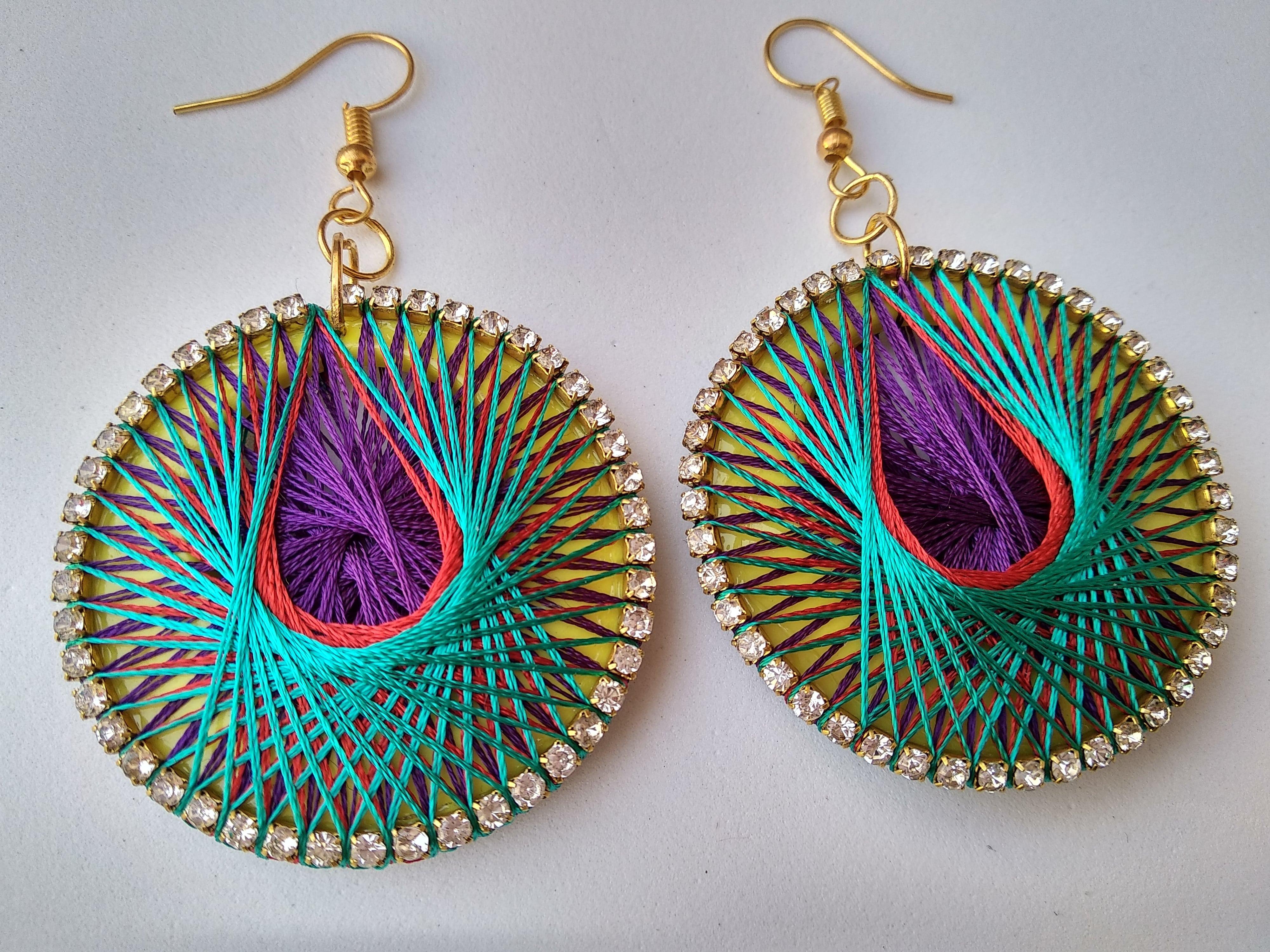 Women's Handmade Thread Earring Slider Thumbnail 6/6