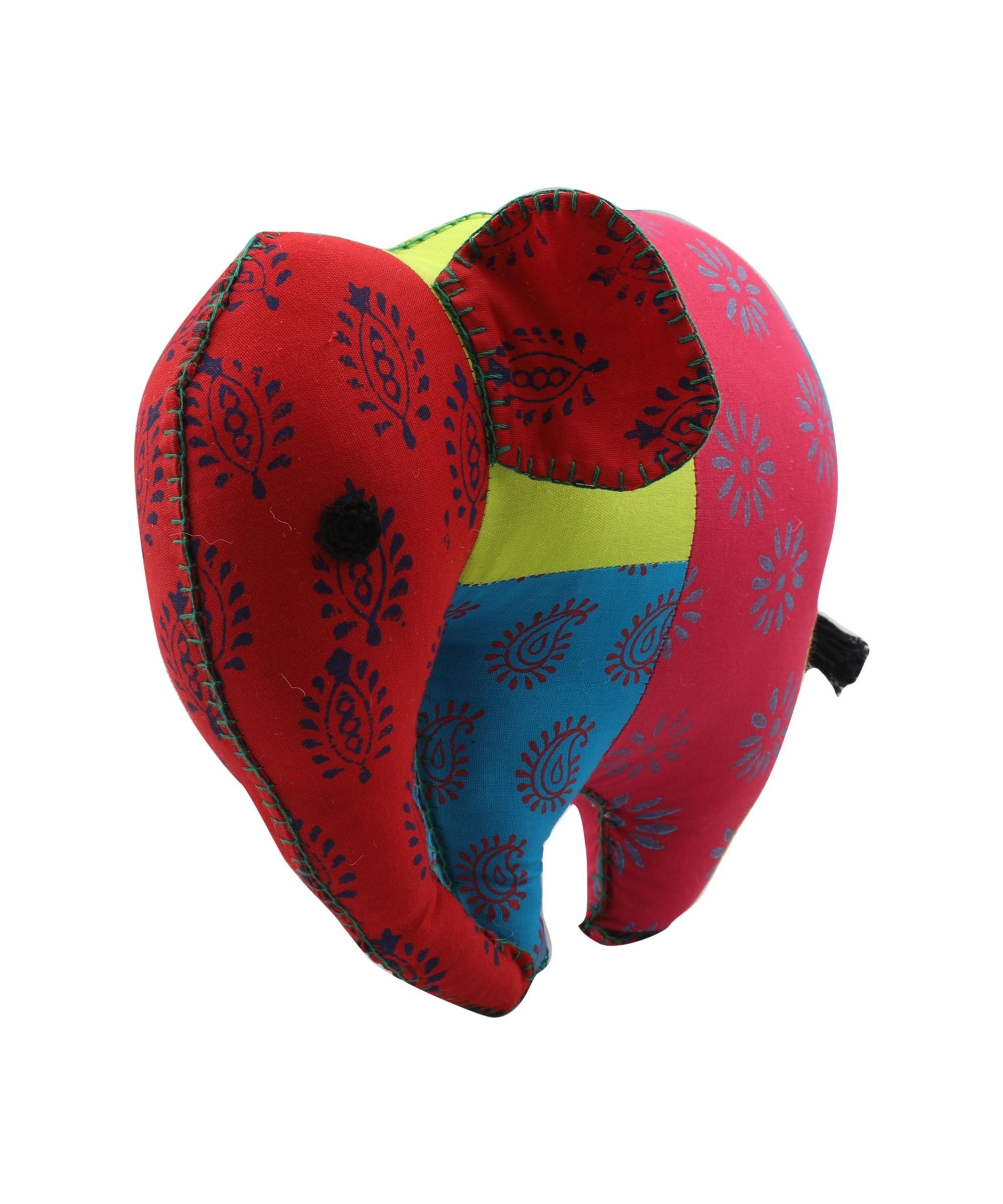 Elephant - Patchwork Soft Toy Slider 5/5