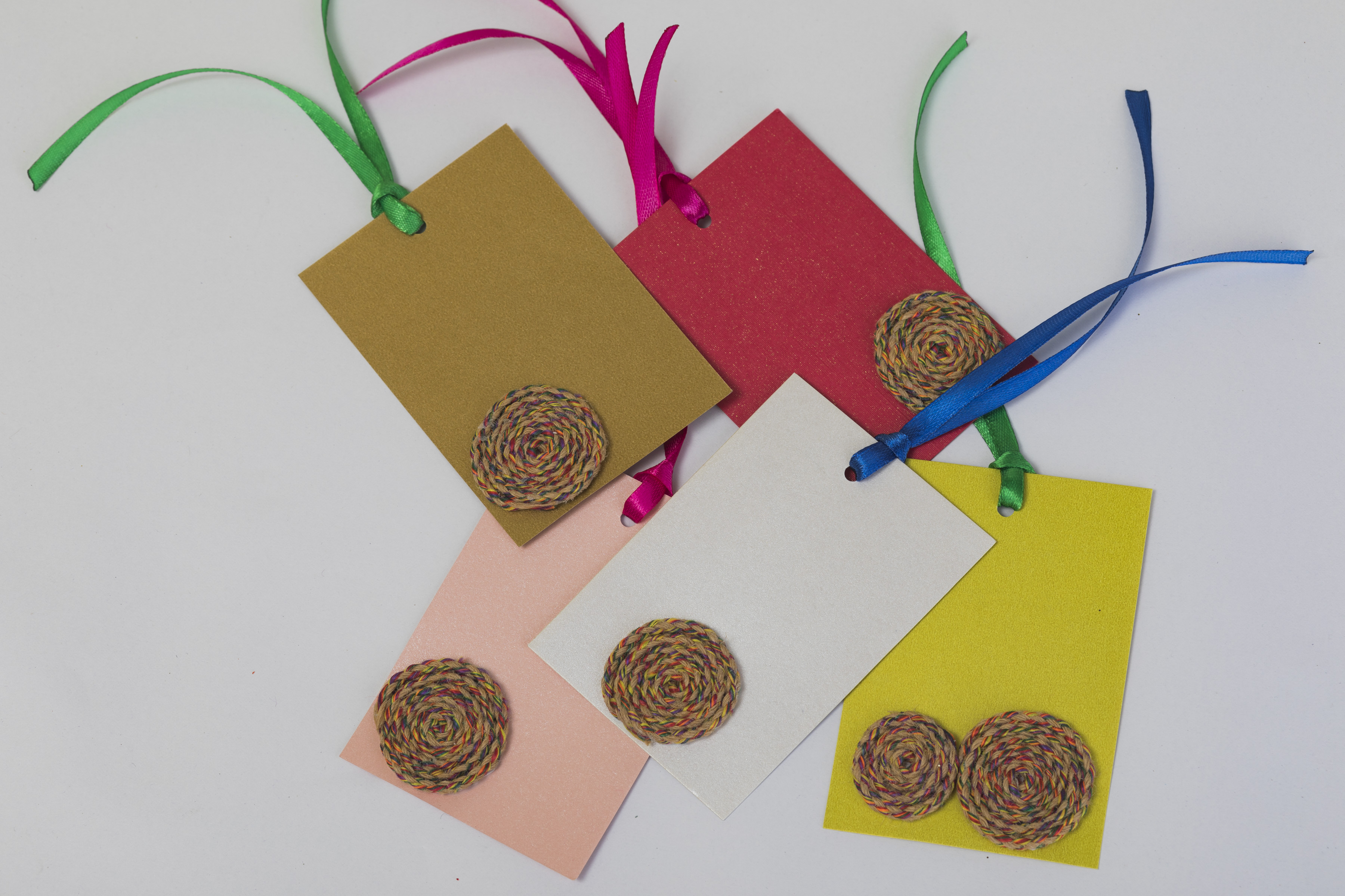 Assorted Recycled Gift Tags (Pack of 12) Slider Thumbnail 1/3