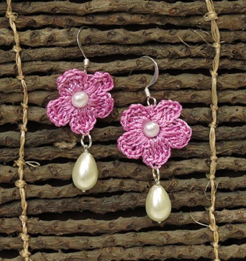Handmade Crochet Earrings Slider Thumbnail 1/1