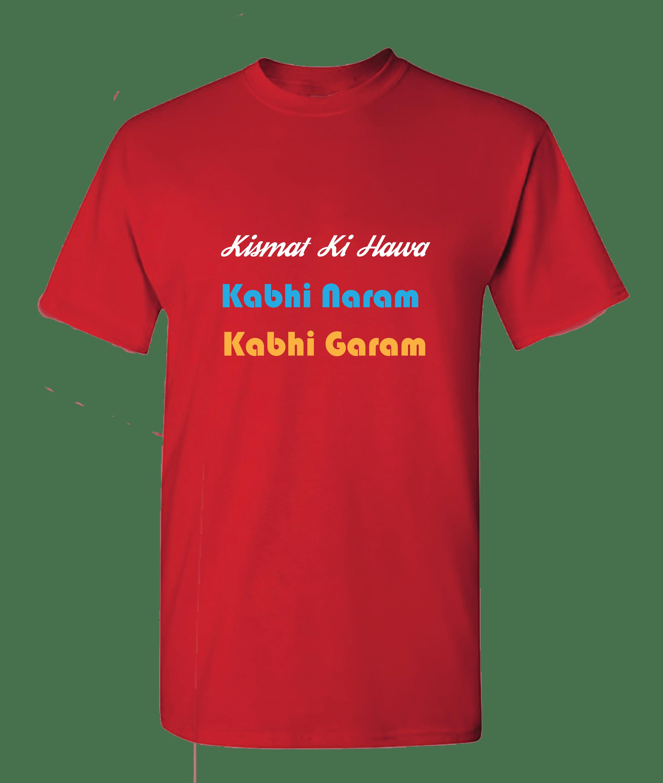 Kismat Ki Hawa kabhi Naram Kabhi Garam T-shirt for  Women's Slider Thumbnail 2/2