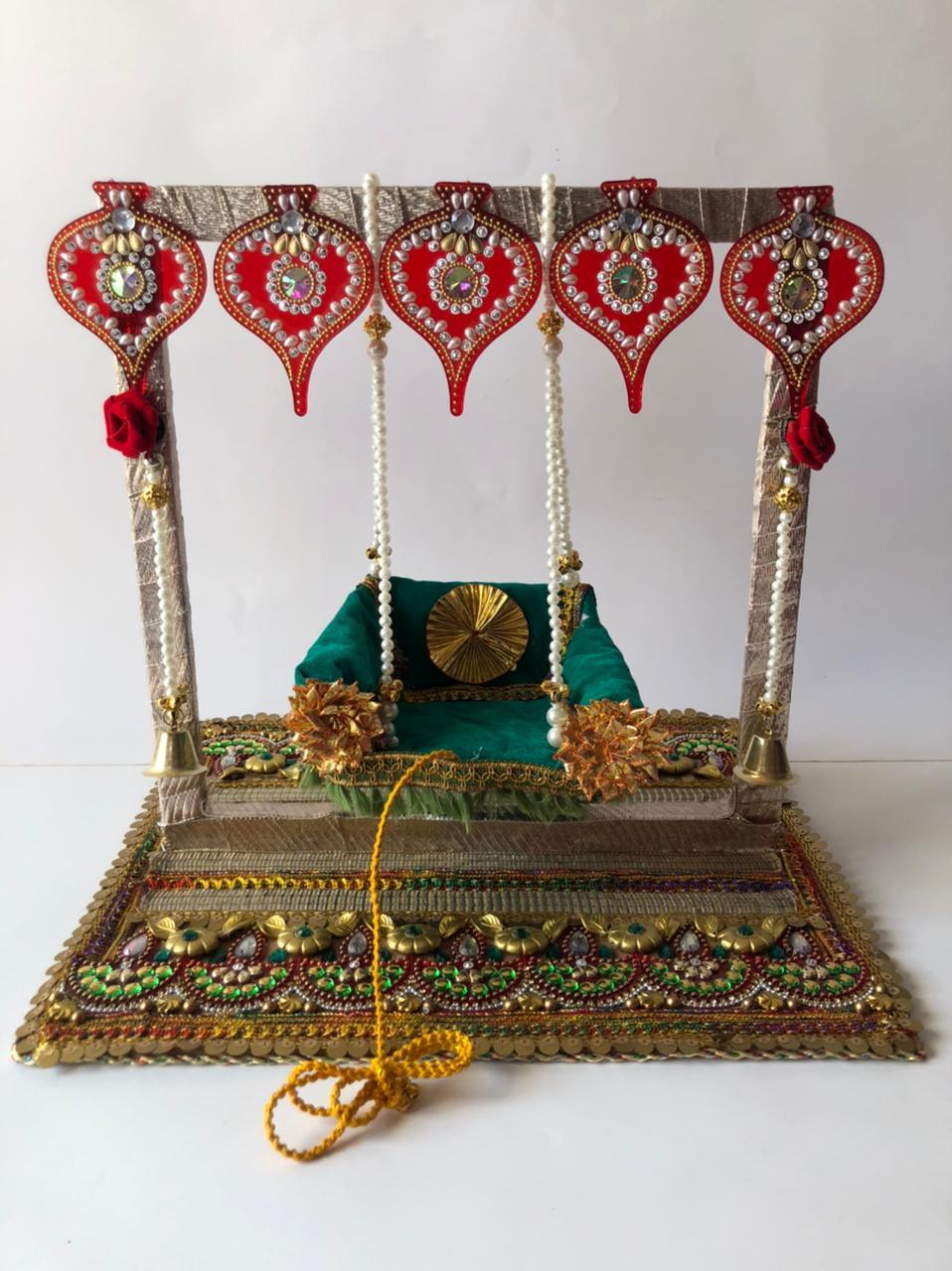 Embellished Swing (Jhula) for Krishna