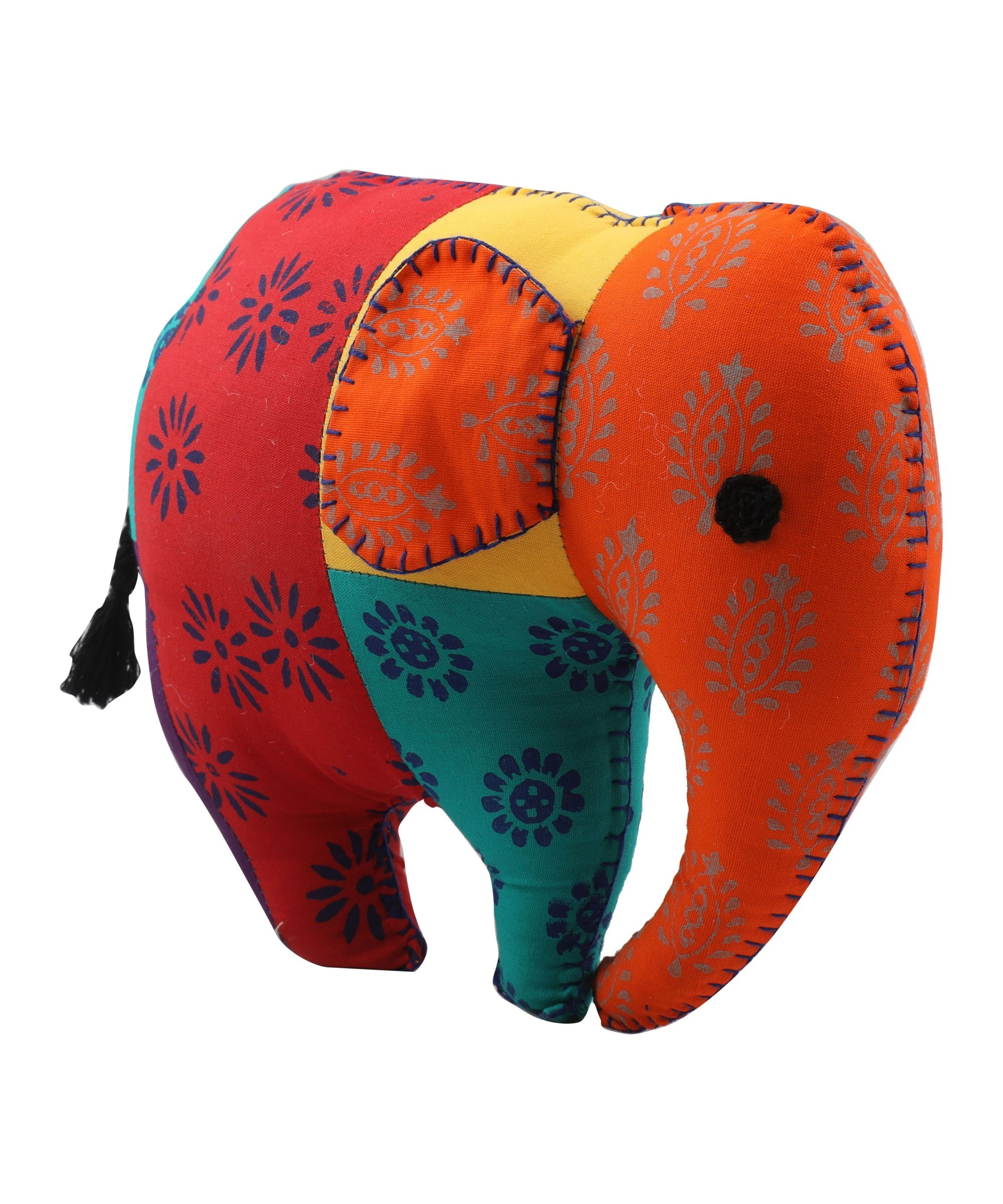 Elephant - Patchwork Soft Toy Slider 2/5