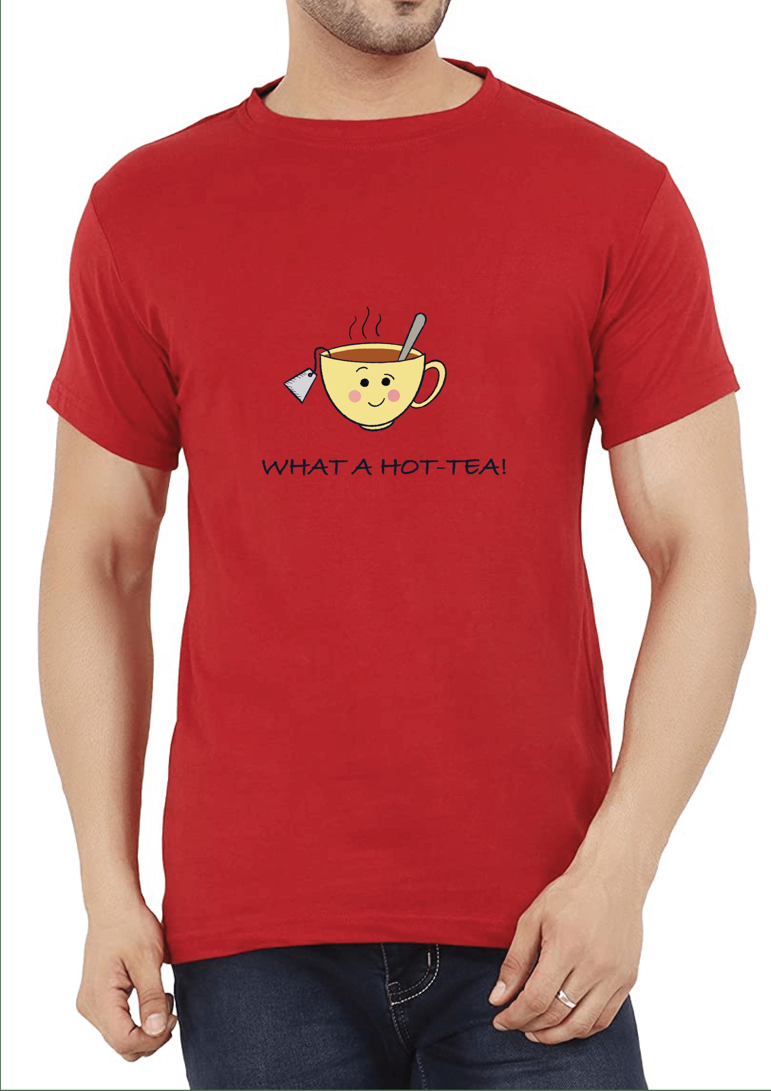 What a Hot- Tea Men's T-shirt Slider Thumbnail 3/4