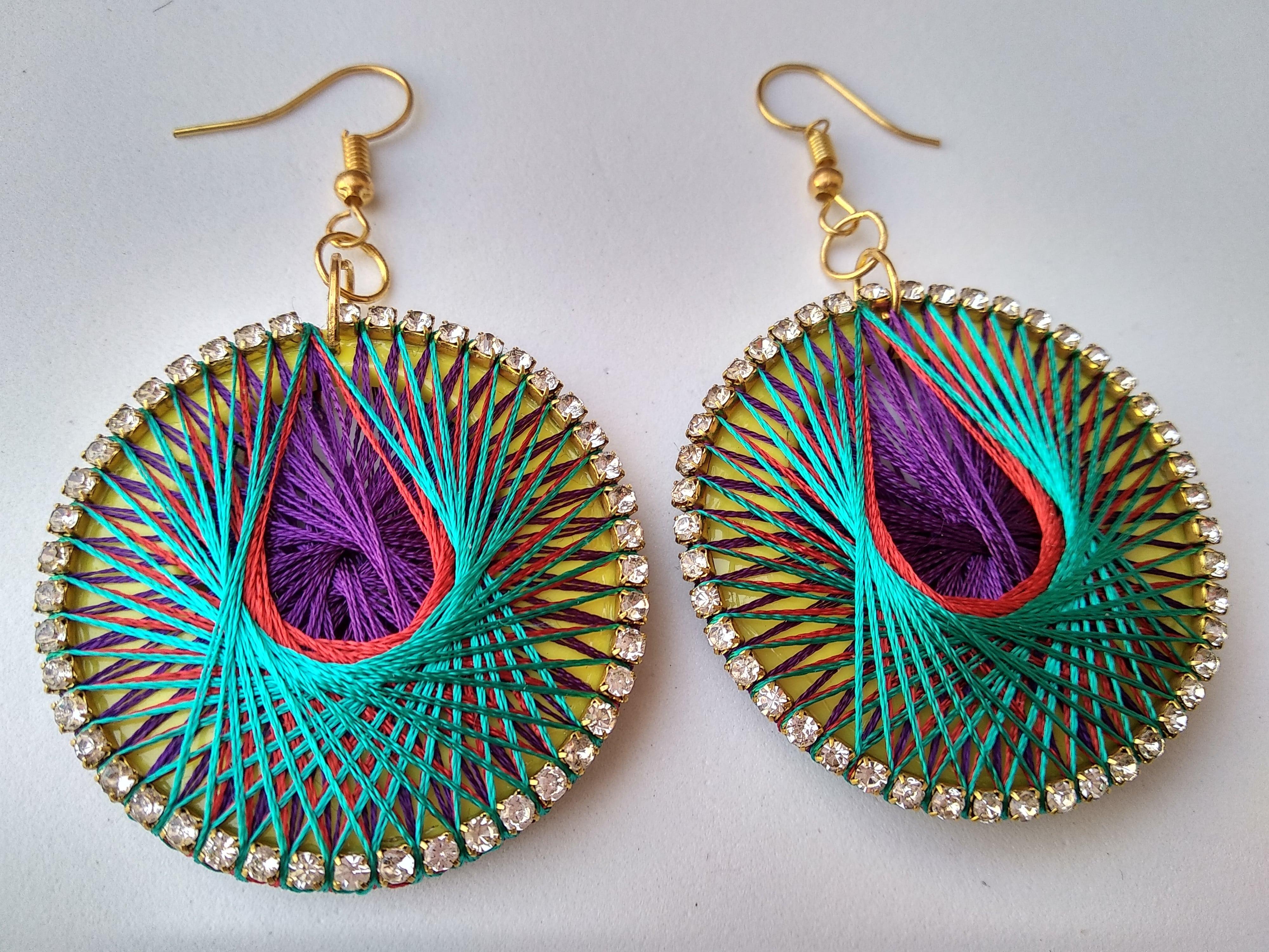 Women's Handmade Thread Earring Slider Thumbnail 5/6
