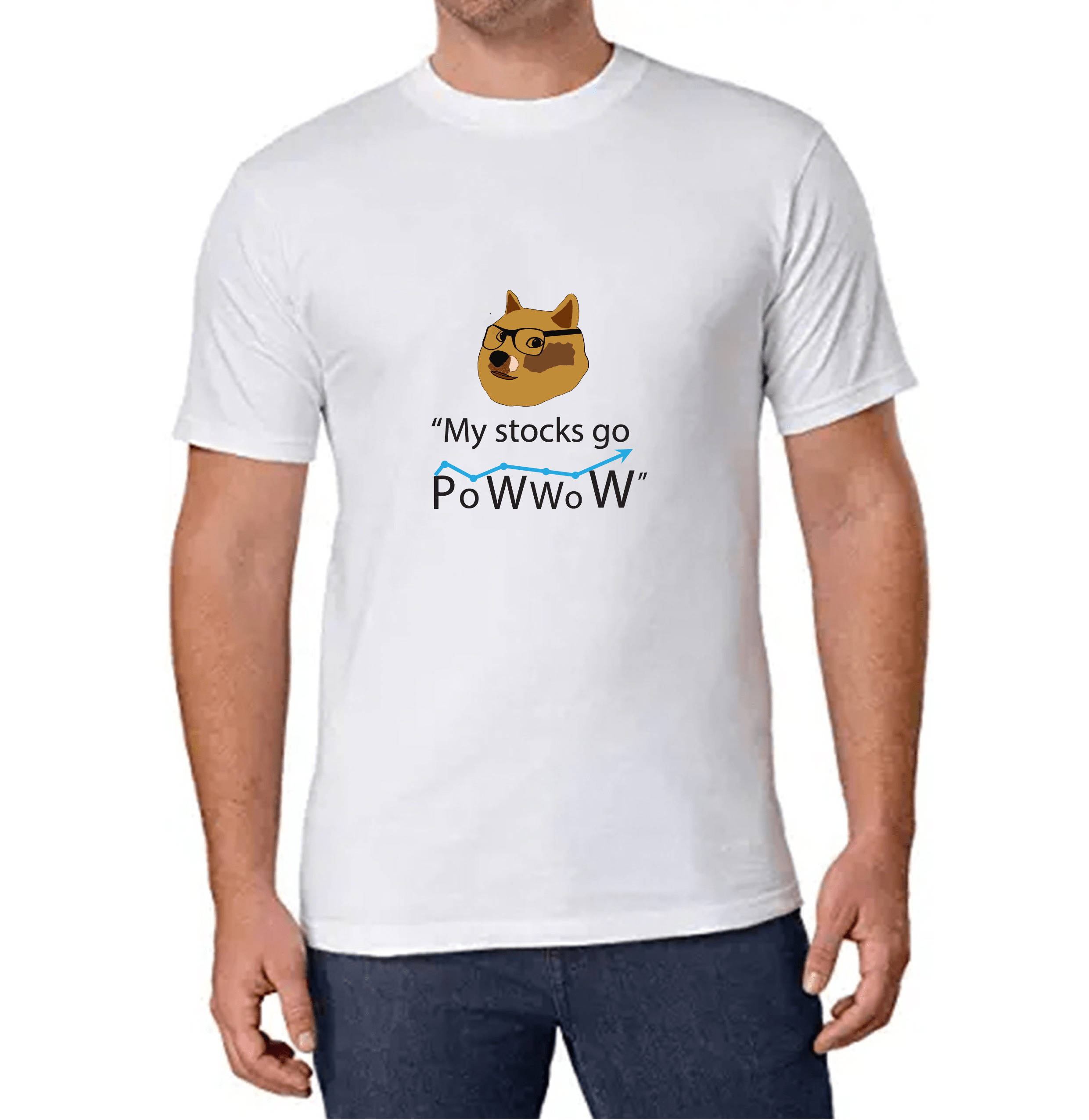 Dogecoin T-shirt for Men Slider Thumbnail 1/2