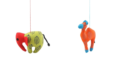 Patchwork Soft Toy - Elephant & Camel (Combo) Slider 1/1