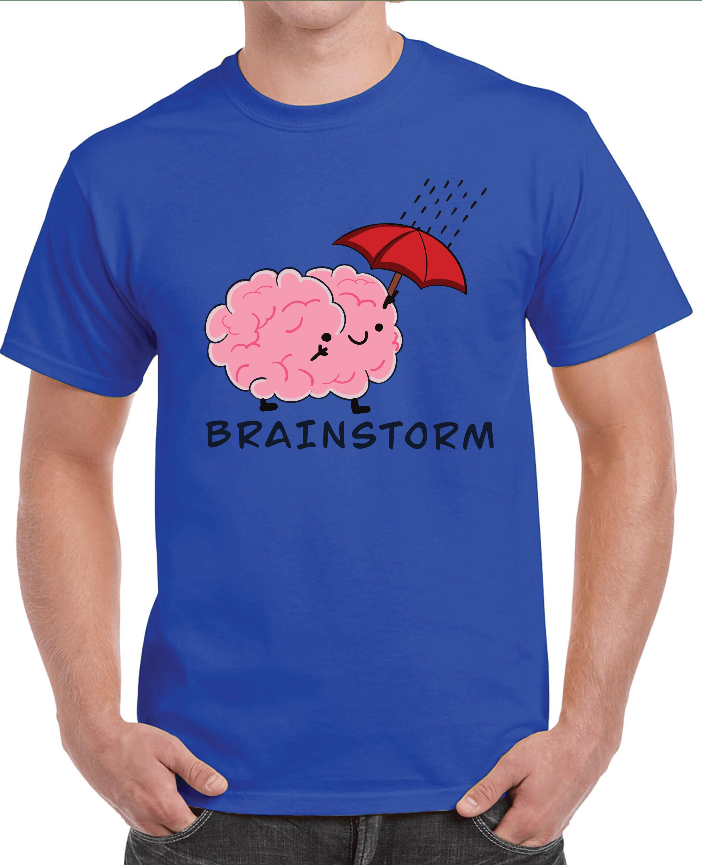 Brain Storm T-shirt for Men Slider Thumbnail 3/4