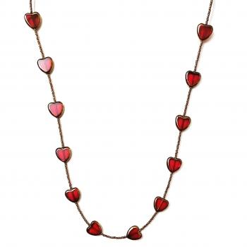 Neckpiece with Red/Golden Heart Beads Slider Thumbnail 1/2