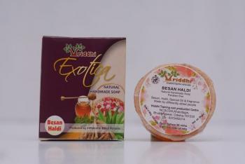 Natural Handmade Besan Haldi Soap (Set of 5)