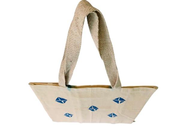 Kora Tote Bag with Blue Kites Slider Thumbnail 3/5