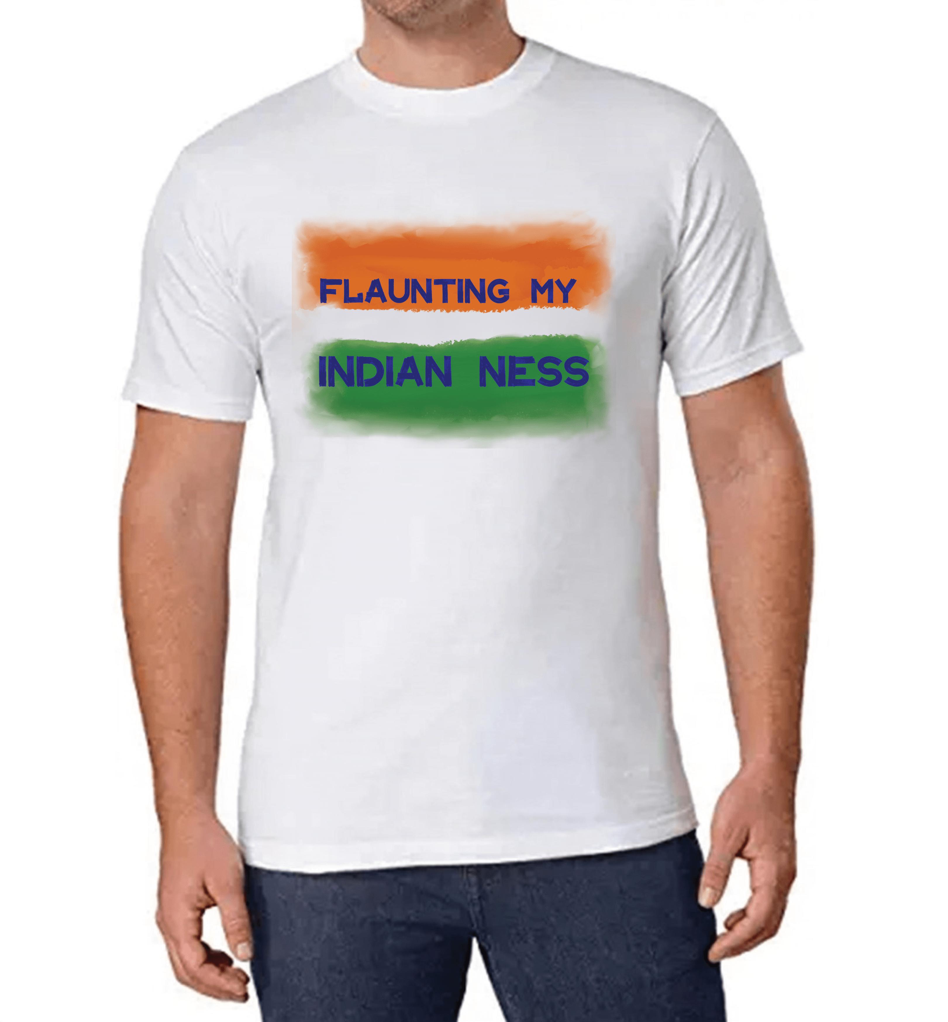 Flaunting My INDIAN NESS T-shirt for Men Slider Thumbnail 1/2