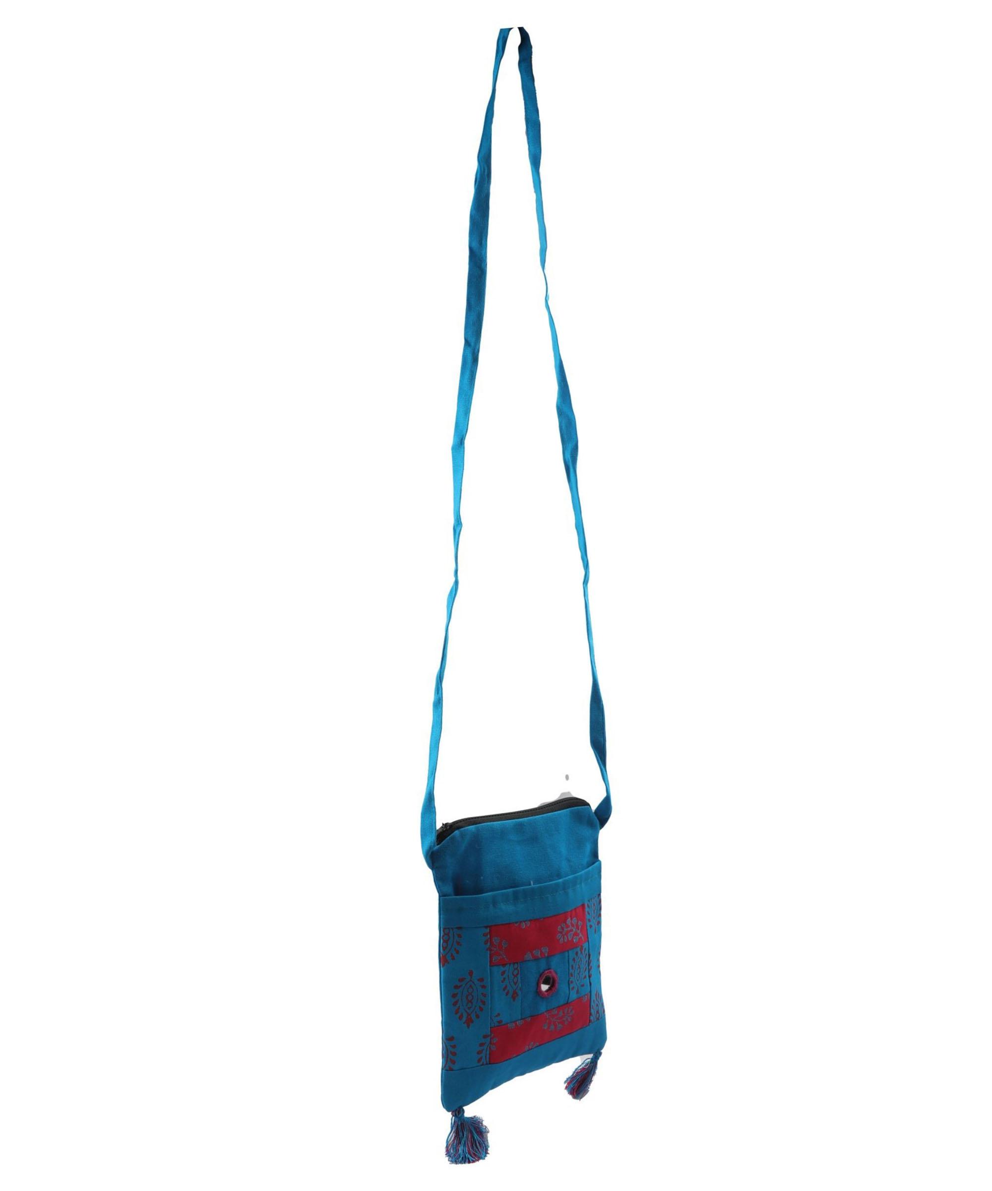 Women's Blue WIEA Sling Bag (Set of 2) Slider Thumbnail 3/5