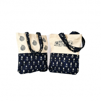 Anchor Leaves Canvas Bag