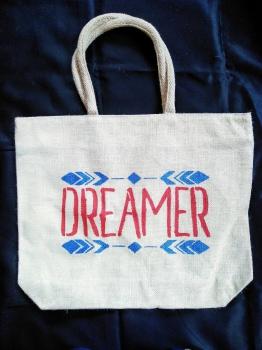 Dreamer Red - Designer Hand Painted Jute Bags