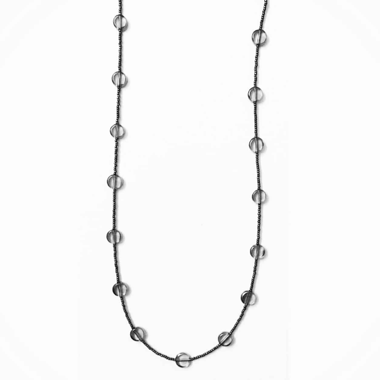 Neckpiece with Black/Golden Beads Slider 1/1