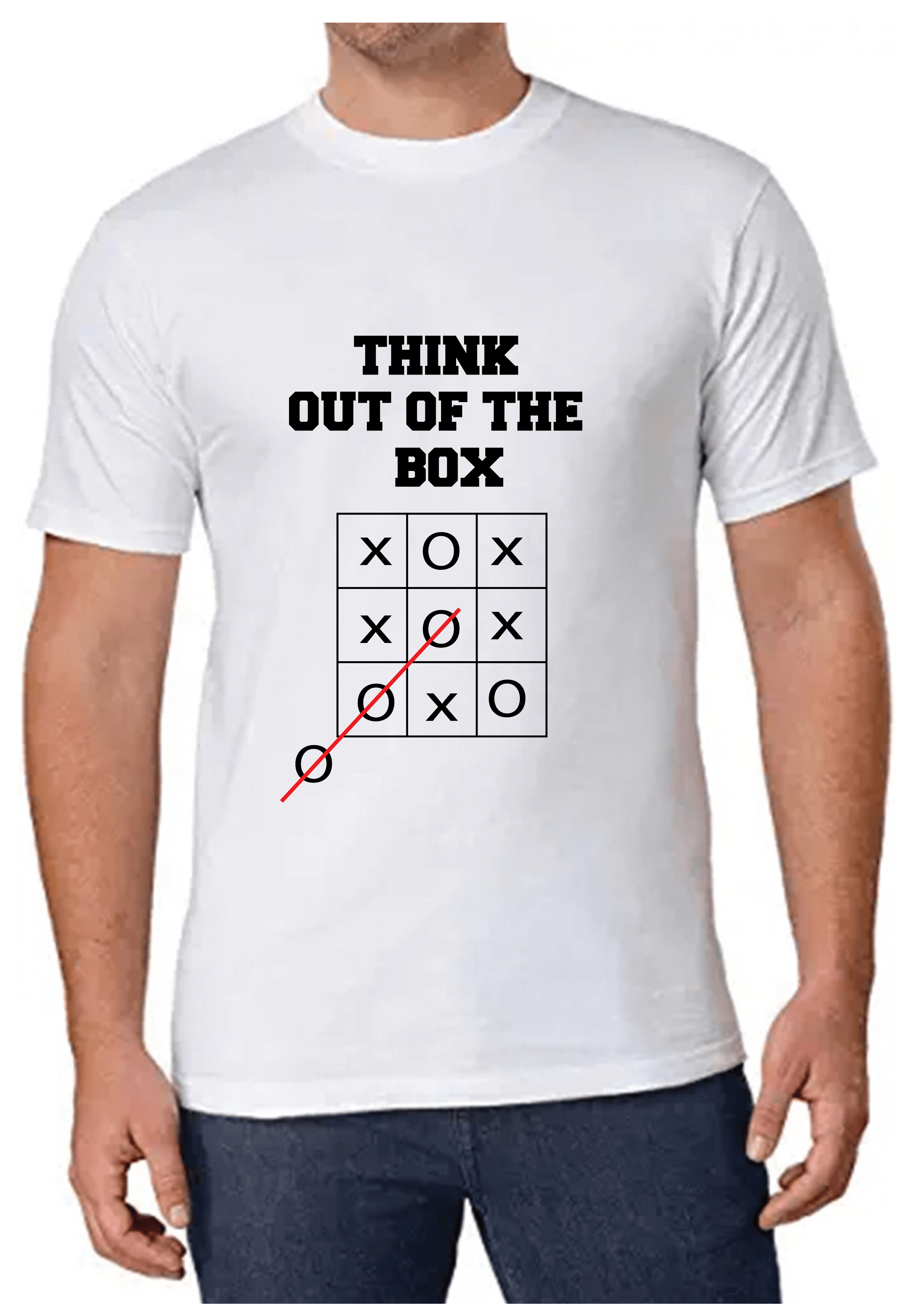 Think out of the box T-shirt for Men Slider Thumbnail 1/4