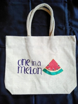 One In A Melon - Designer Hand Painted Jute Bags Slider 2/2