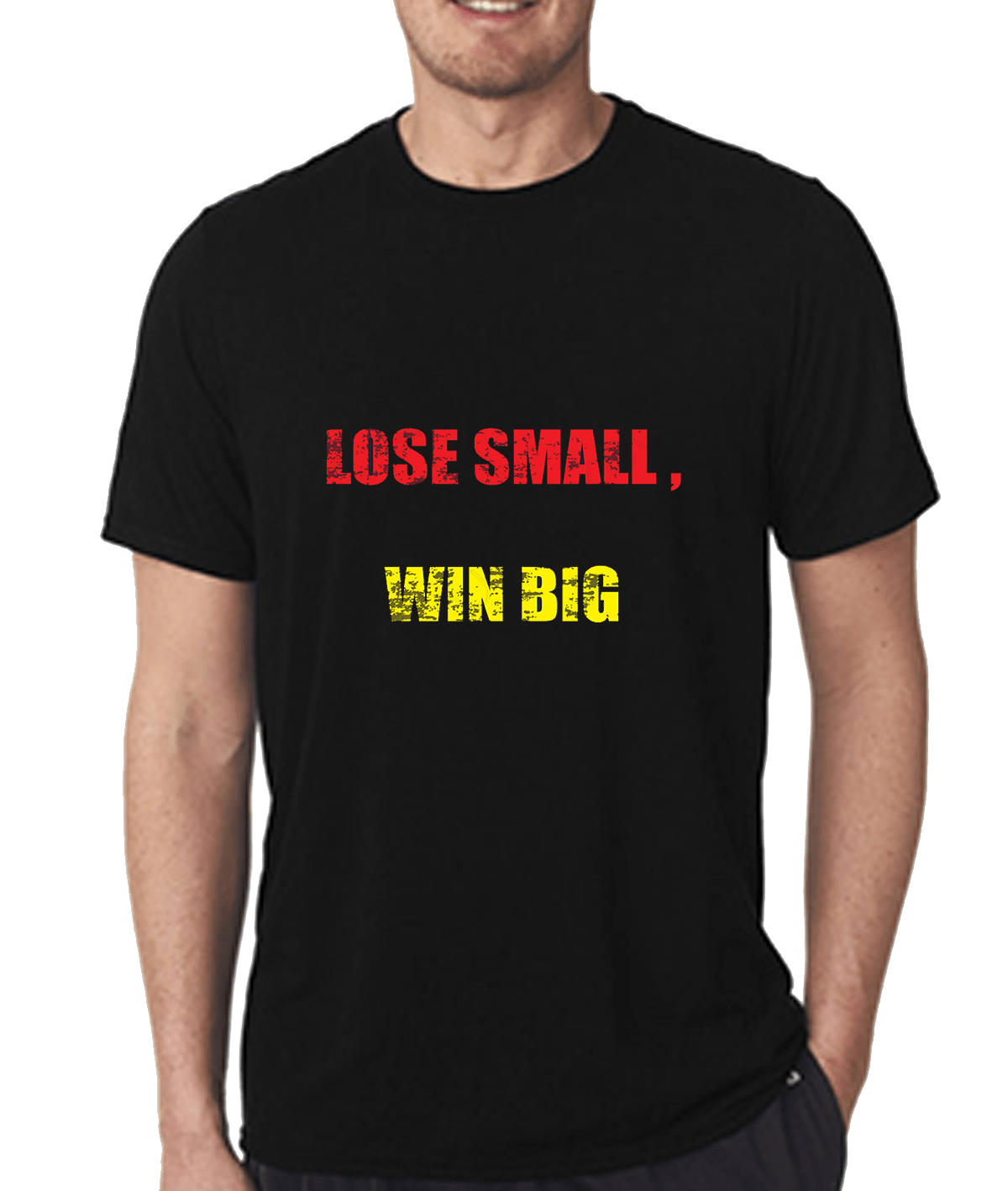 Lose small Win big T-shirt for Men Slider Thumbnail 1/2