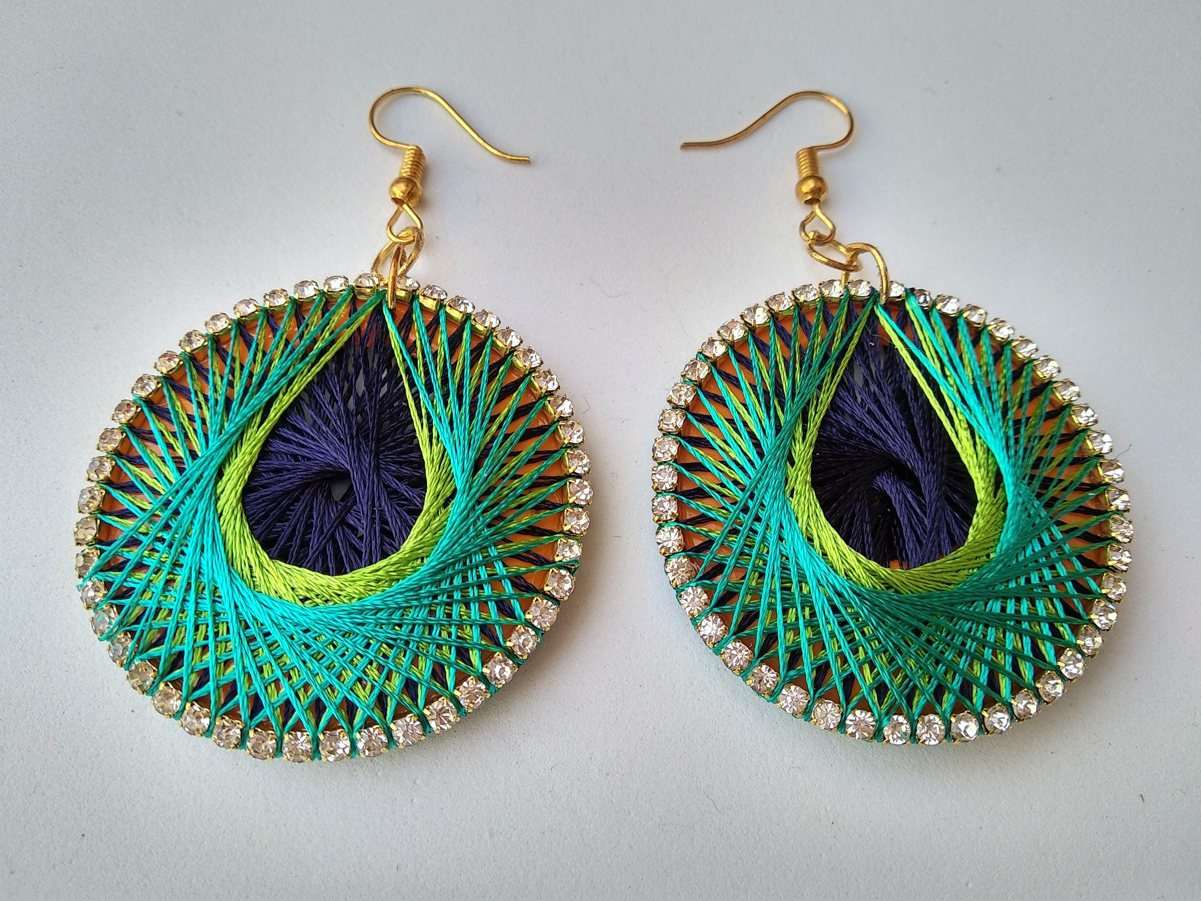 Women's Handmade Thread Earring Slider Thumbnail 3/6