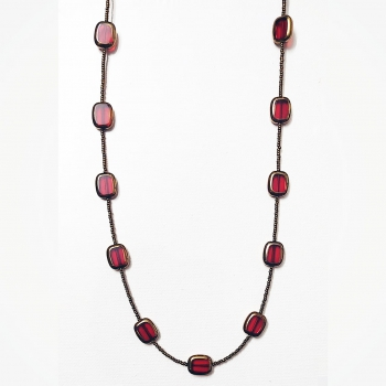 Neckpiece with Red/Golden Beads