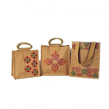 Jute Bag with Block Prints